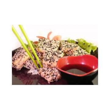 Tofu frit au sésame